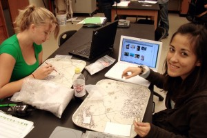 Stacy and Tamara identifying meso shell